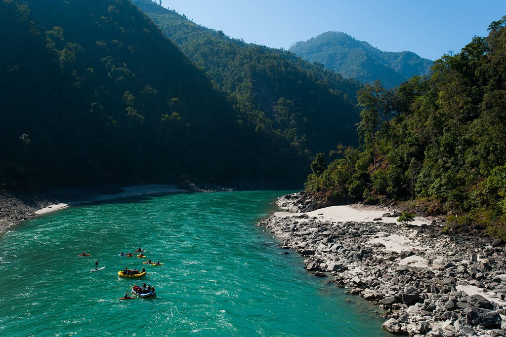 Rafting down the Karnali River (Photo credit: Alex Treadway)