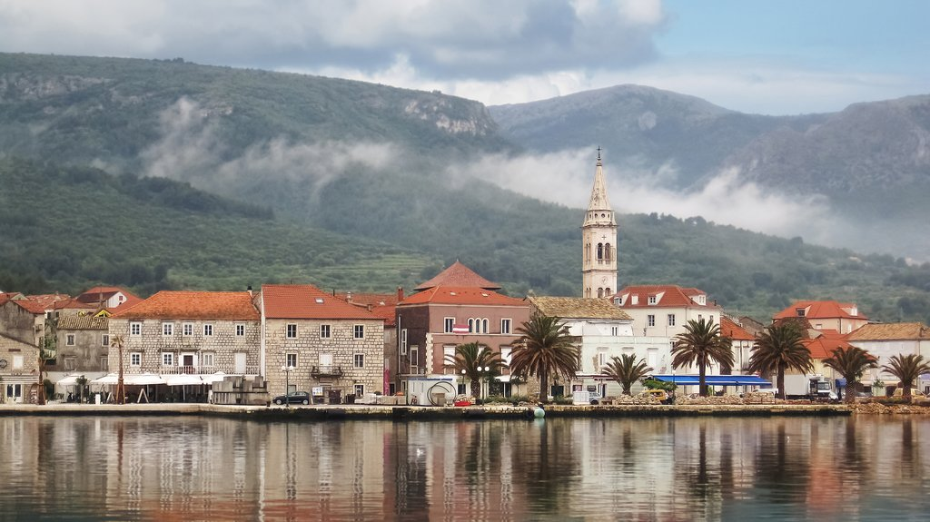 The town of Jelsa on Hvar Island