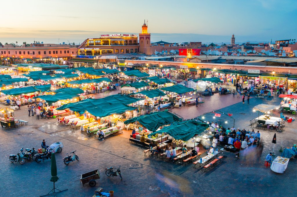 Bustling Marrakech by Night