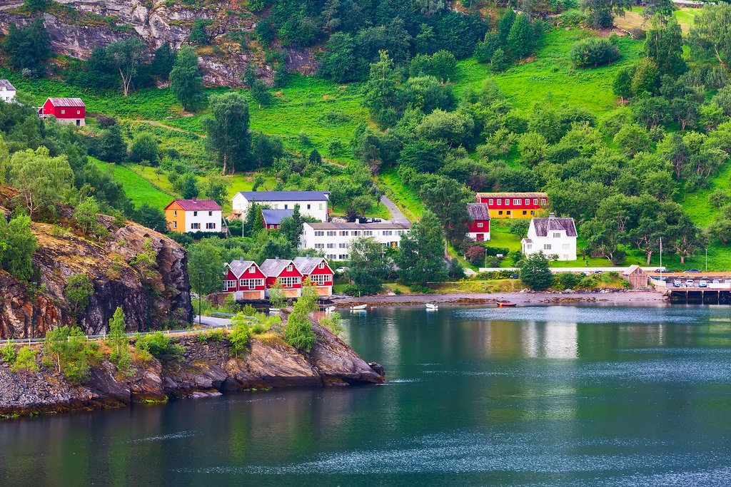 The charming village of Flåm on Norway's Sognefjord.