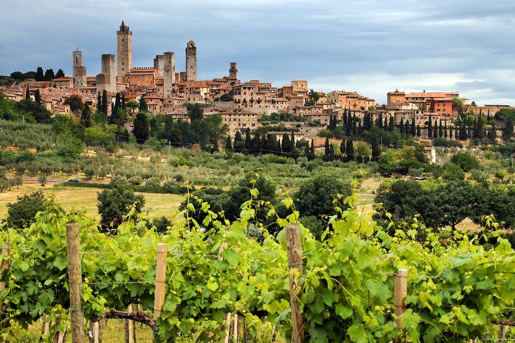 The village of San Gimignano in Tuscany, Italy