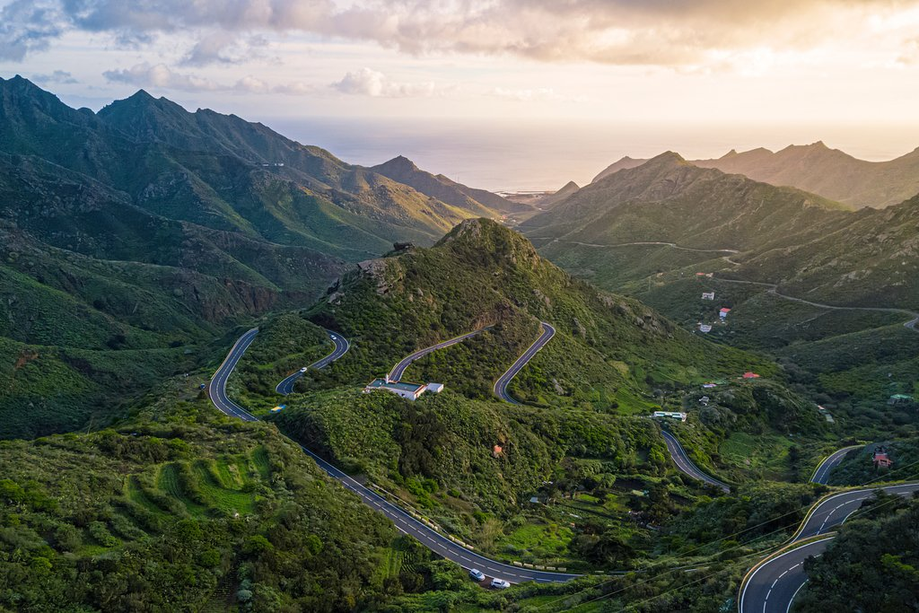 The lush landscapes and turquoise waters of Tenerife.