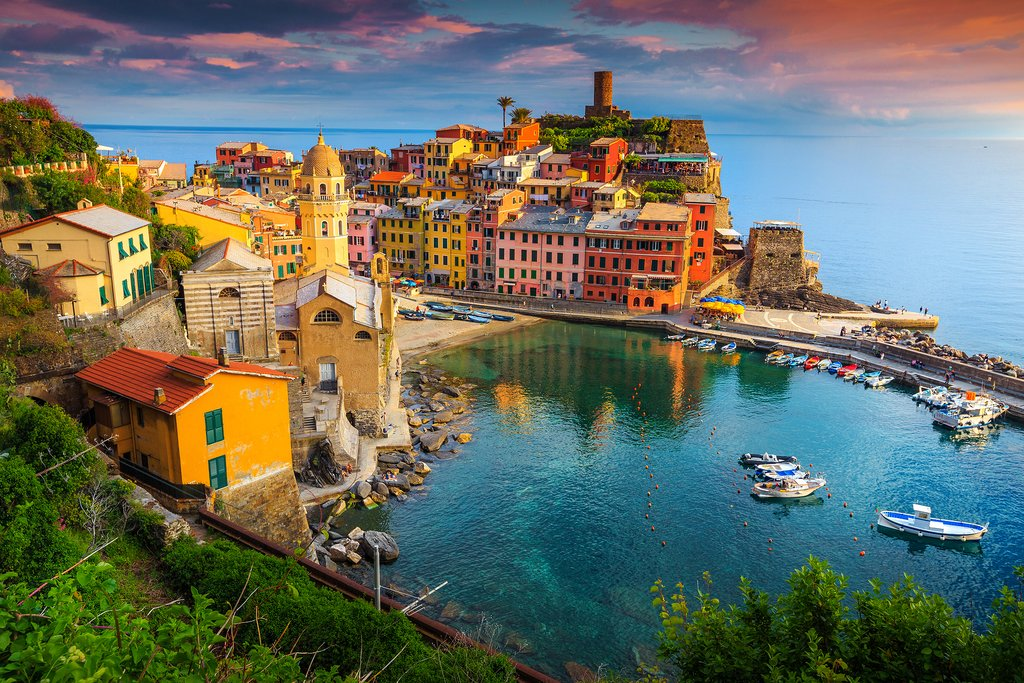 The Cinque Terre village of Vernazza.