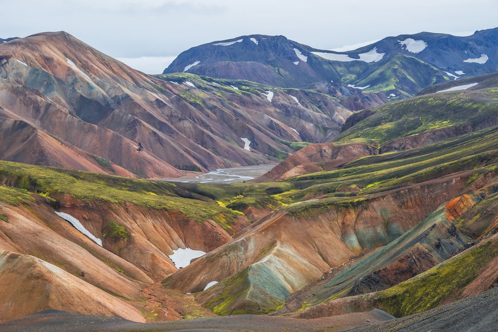 Volcanic Landscapes of Landmannalaugar in the Iceland Highlands