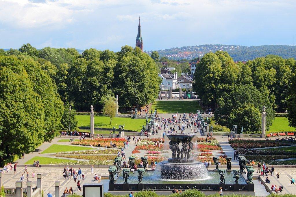 Frogner Park in Oslo, Norway