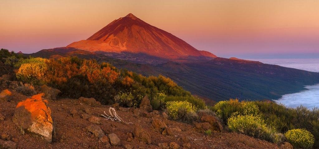 Sunrise over Tenerife's volcanic Mount Teide.
