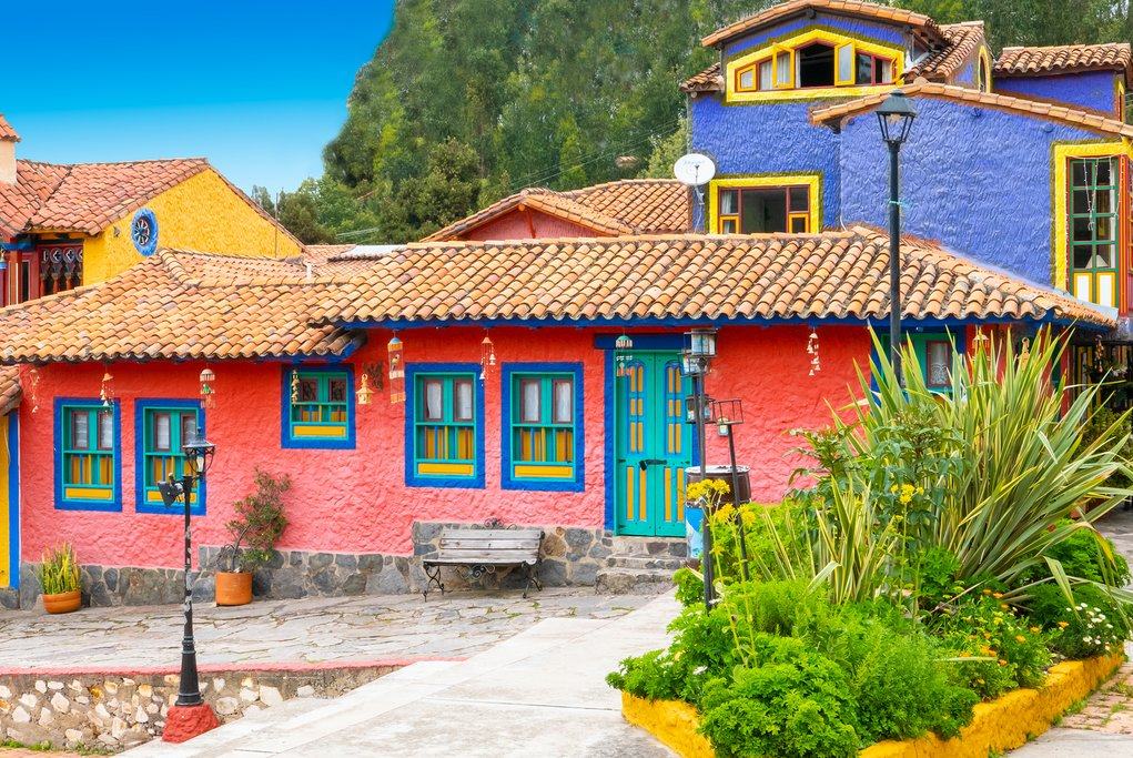 Colorful Houses in Raquirá
