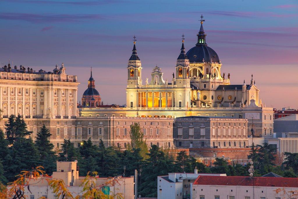 Madrid's Santa Maria la Real de La Almudena Cathedral and Royal Palace