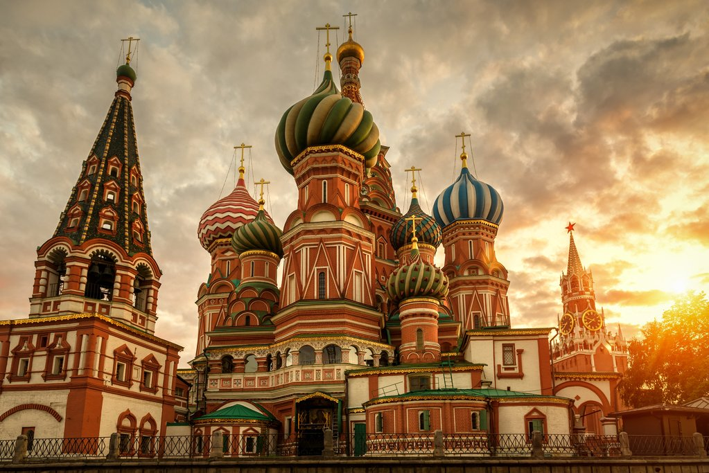 The Domes of St Basil's Cathedral in Moscow
