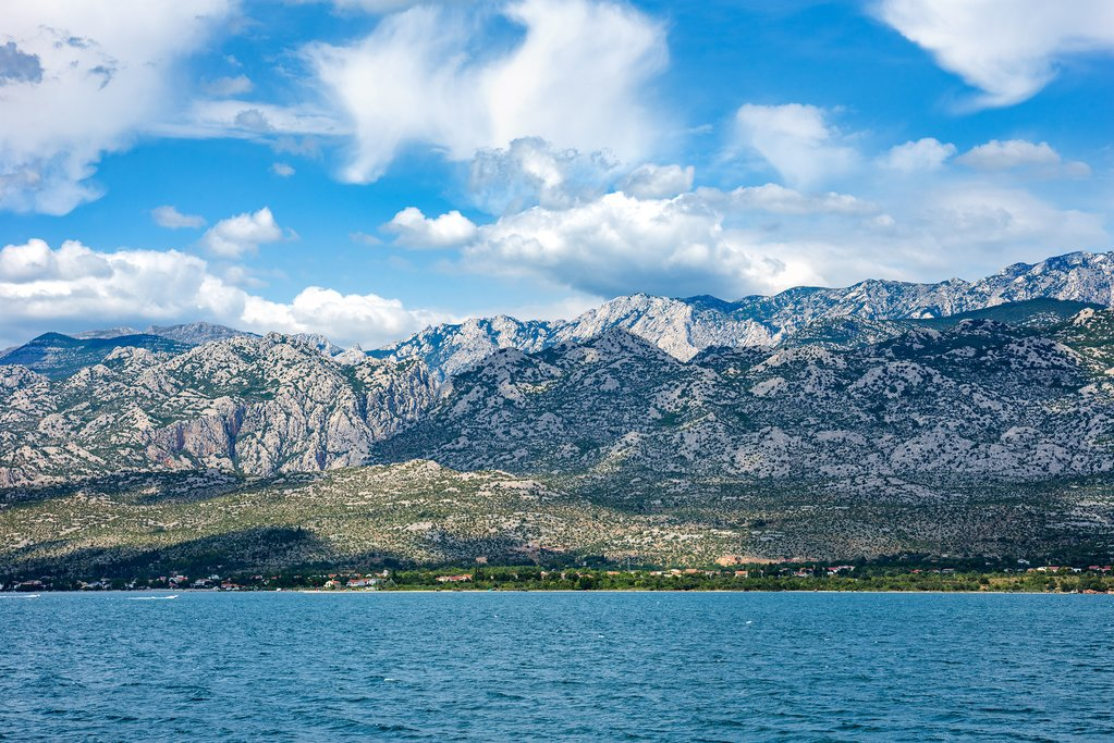 Paklenica National Park rising up along the coast of Croatia