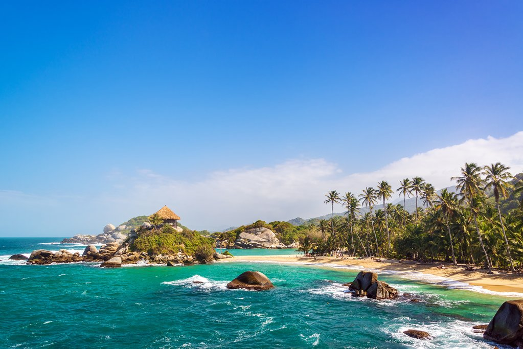 Shoreline of the Tayrona National Park