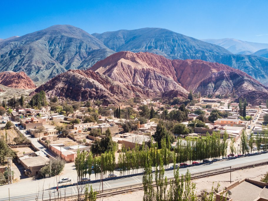 Seven colored mountain near Purmamarca, Argentina