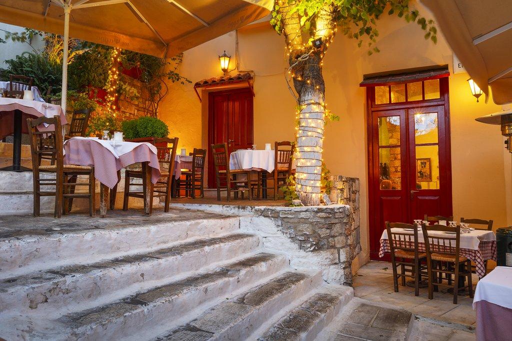 Taverna in Athens' Plaka neighborhood