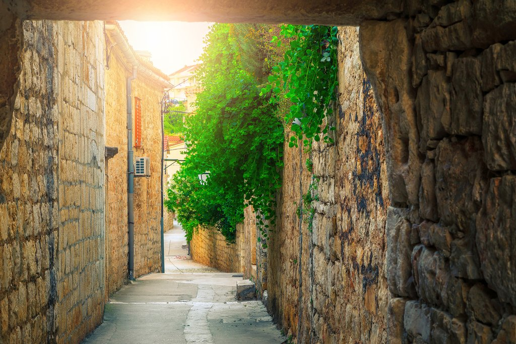 Picturesque alleyways of Hvar Town