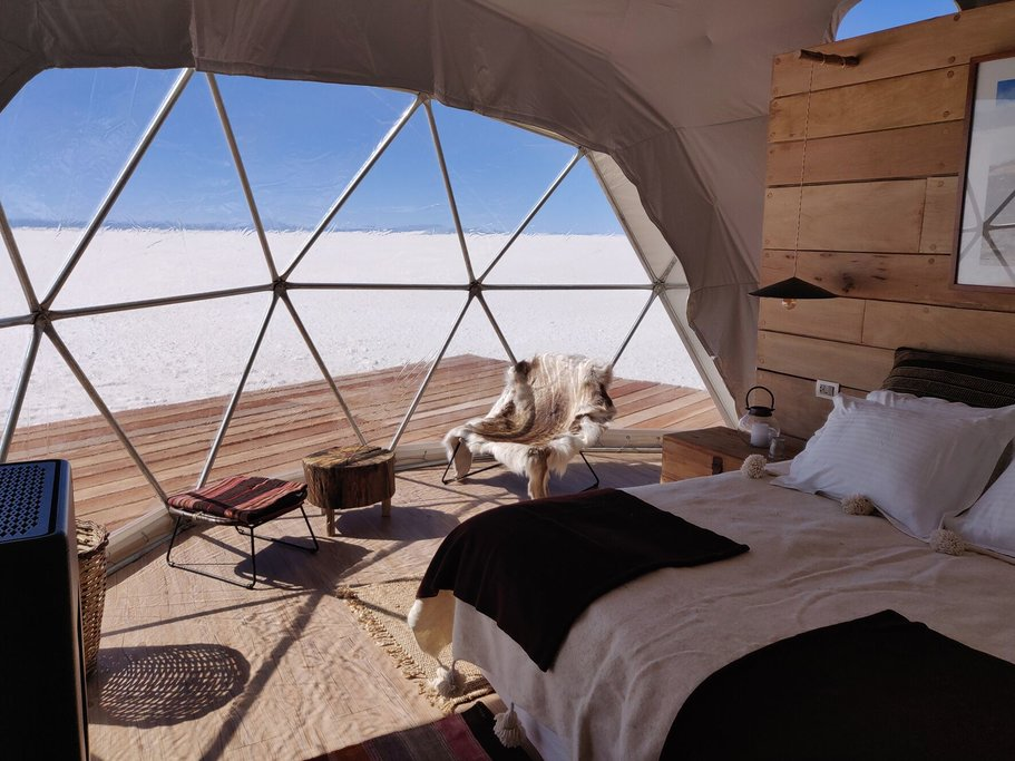 Glamping domes at Uyuni
