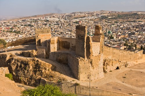 The Merenid Tombs overlook the imperial city of Fes
