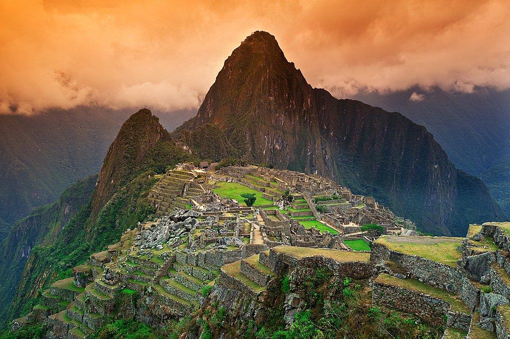 Sunset over Machu Picchu