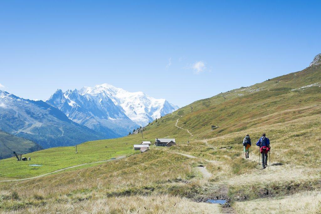 Crossing Col de Balme