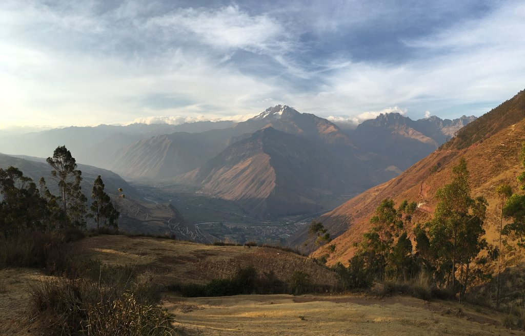 Urubamba village and river valley