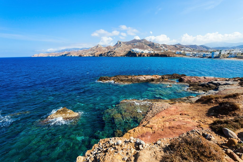 An aerial view of Naxos