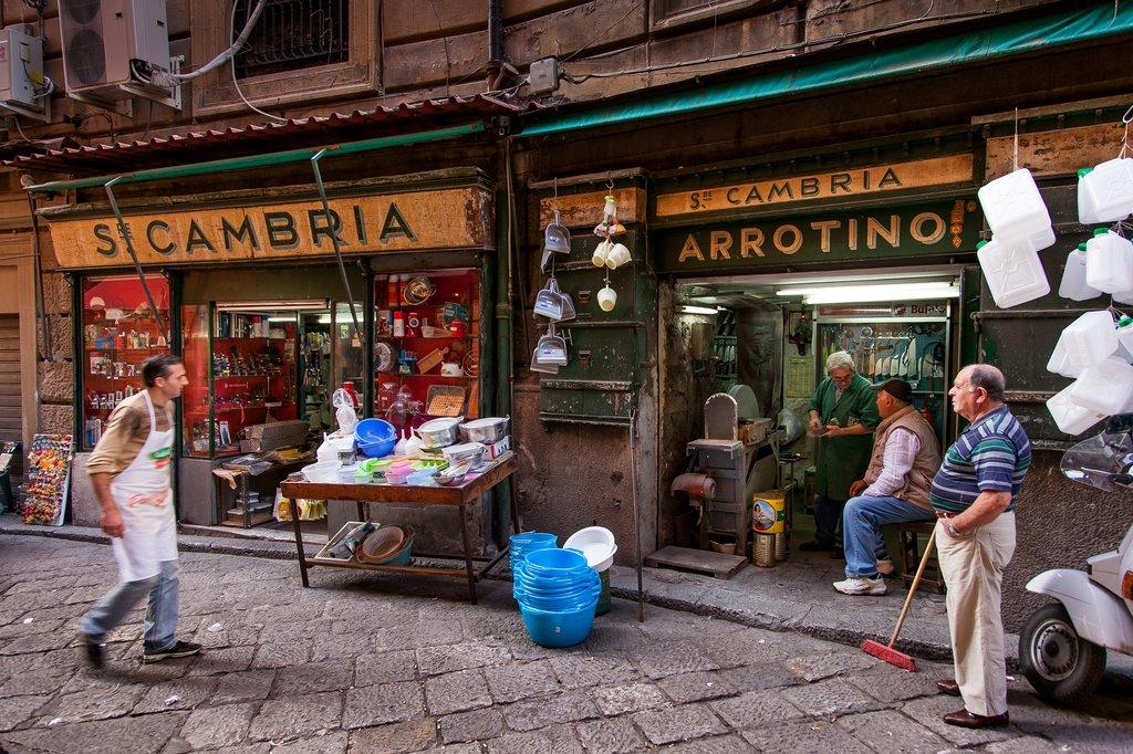 Seafood for sale at Vucciria market