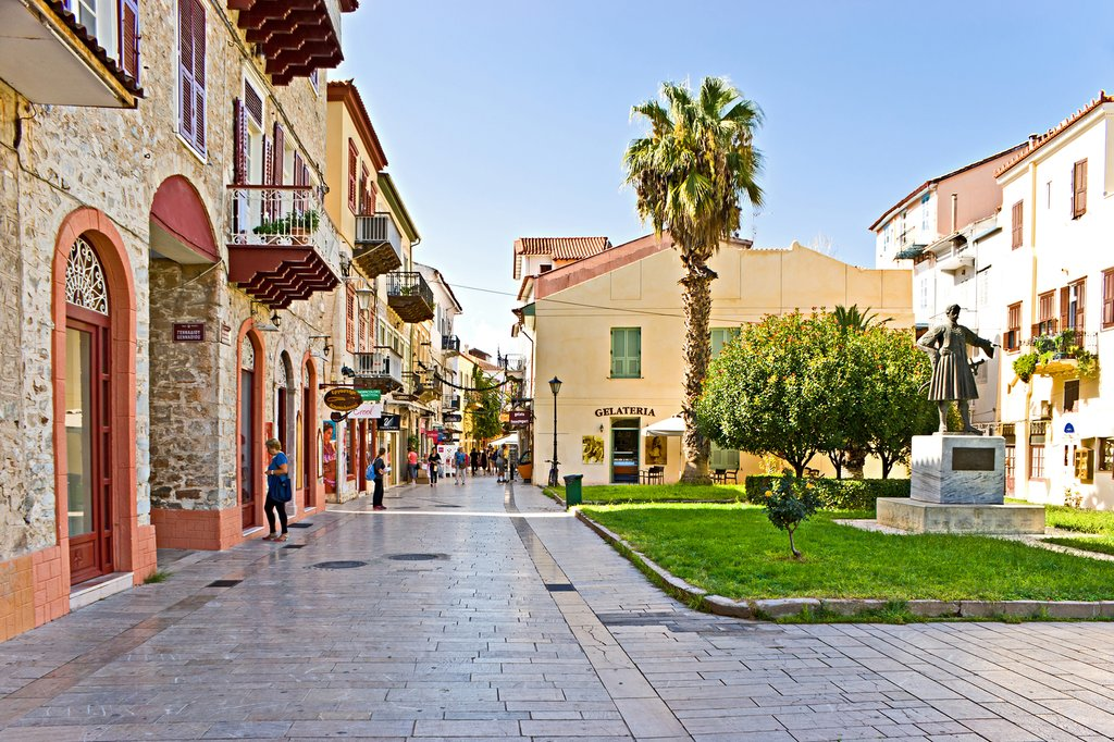 One of the main shopping streets in Nafplio