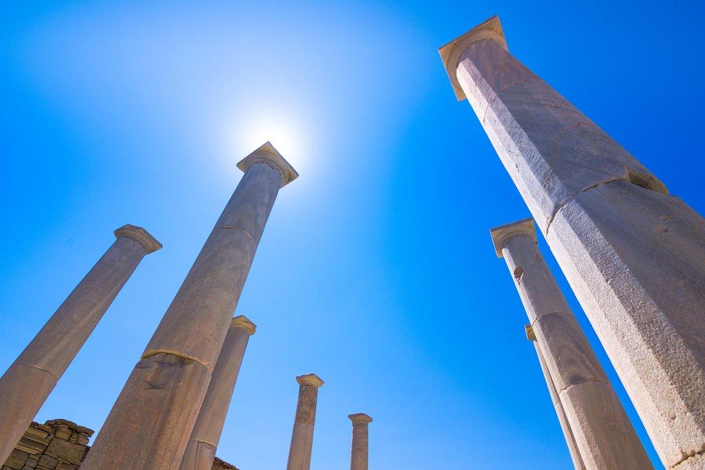 Ancient columns on Delos
