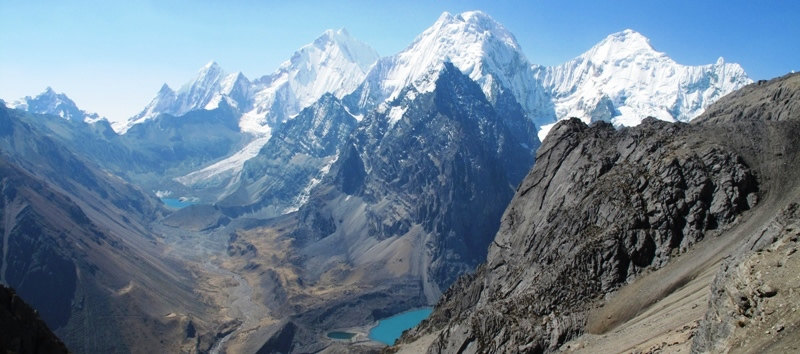 Snow-capped peaks in the Cordillera Huayhuash