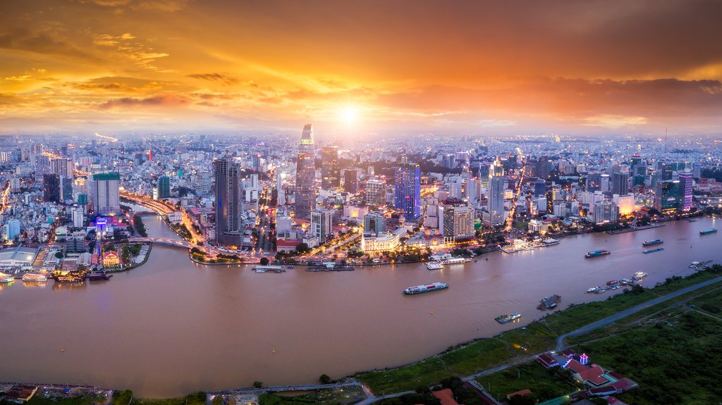 Ho Chi Minh City at sunset