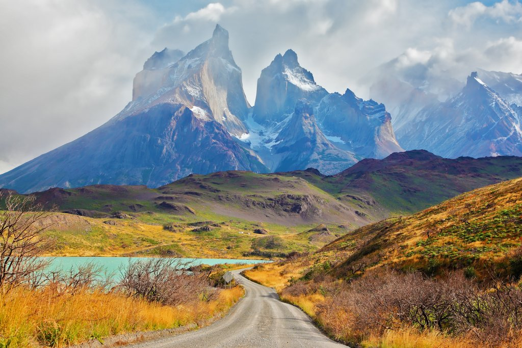 "Los Cuernos, or ""the Horns,"" in Patagonia's Torres del Paine National Park"