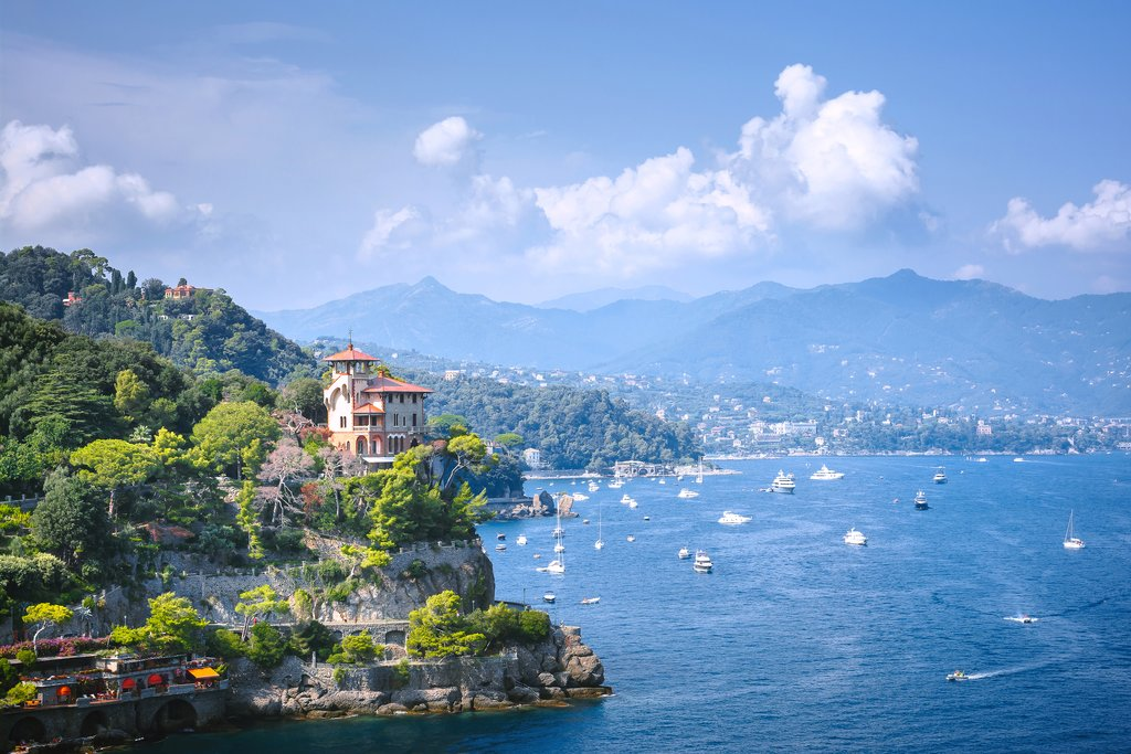 Portofino's coastline