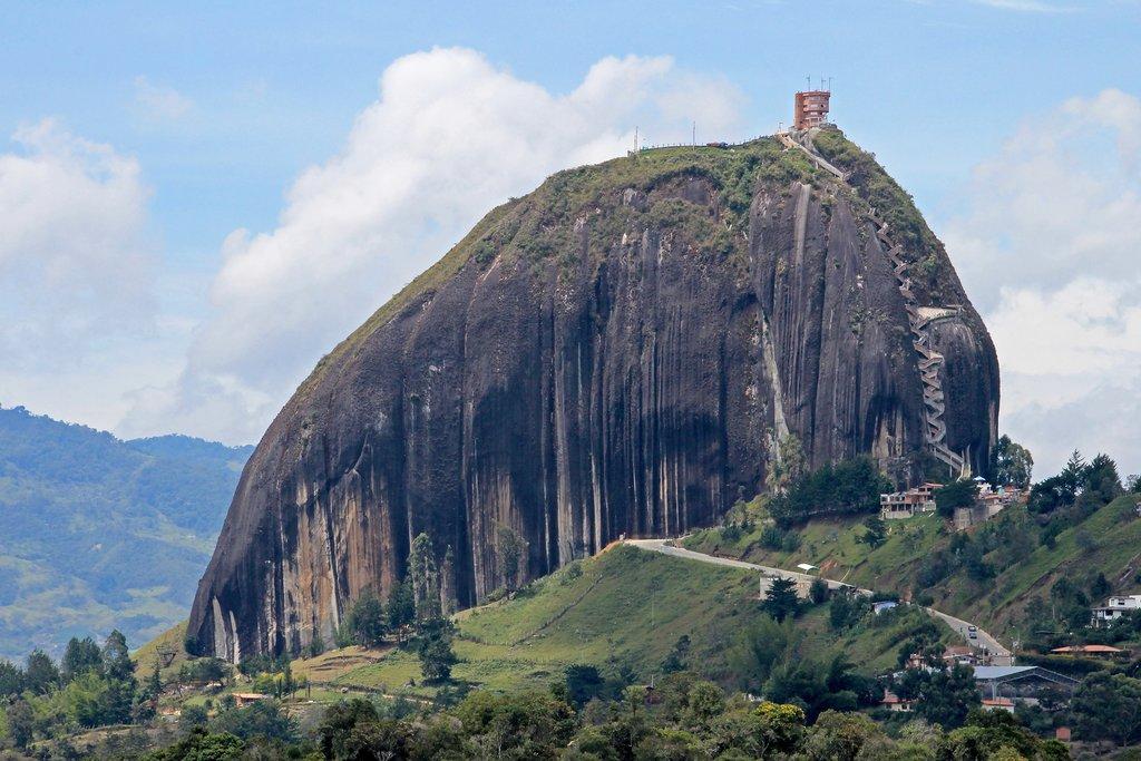 Piedra El Peñol, a huge granite monolith resembling Rio de Janeiro's Sugarloaf Mountain.