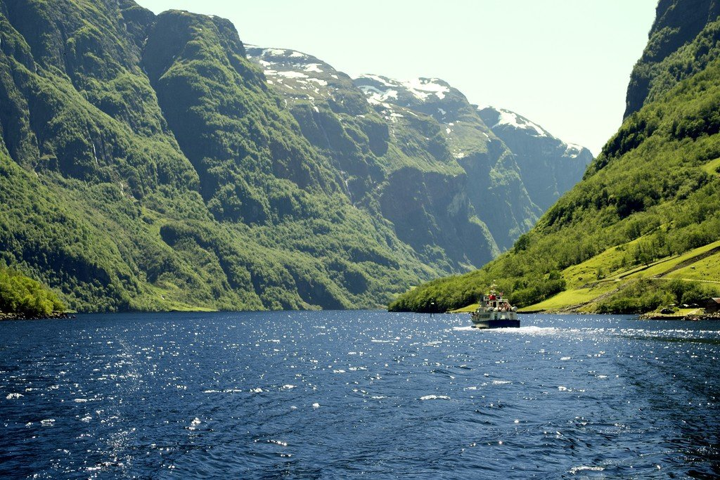 Sail through the Sognefjord to get to Fjærland