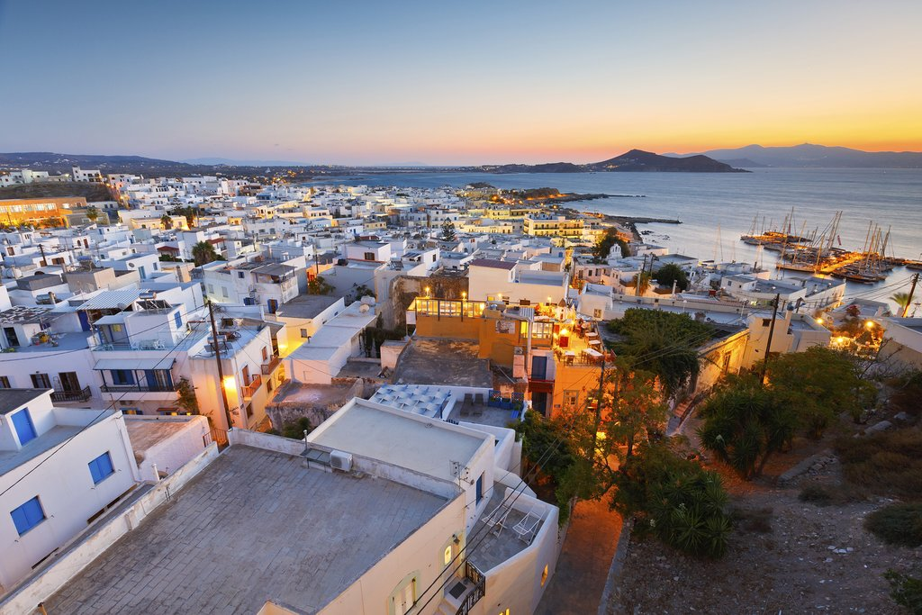 Looking down at the Old Town in Naxos from the castle
