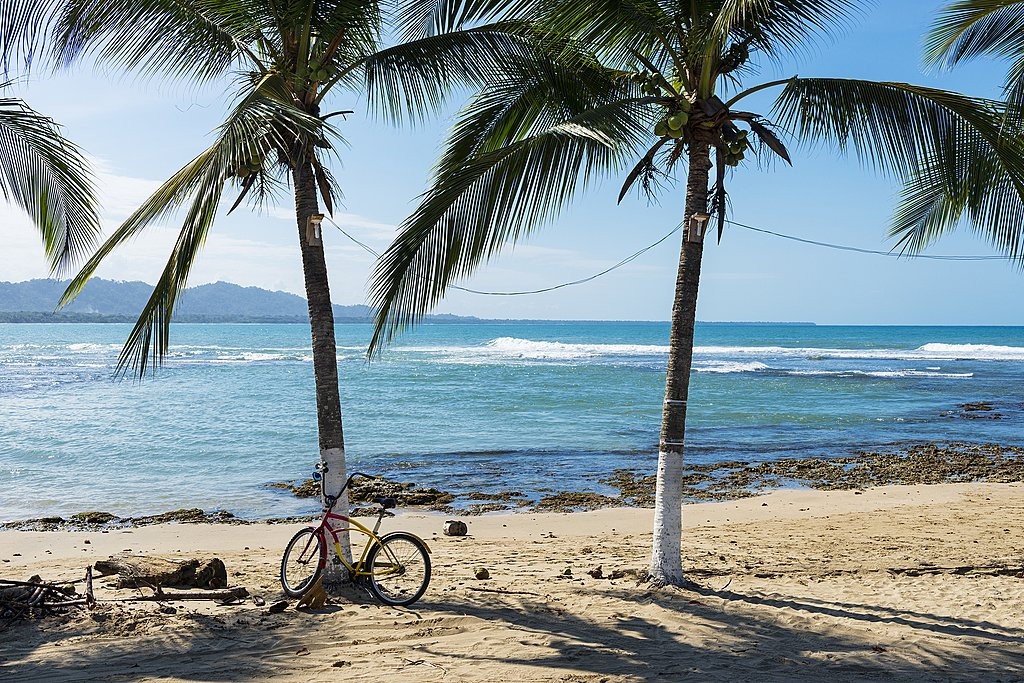 Bicycle by the beach in Puerto Viejo