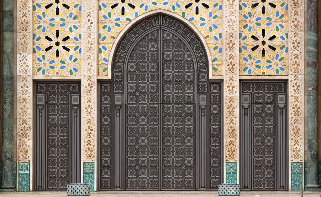 Details of the Hassan II Mosque