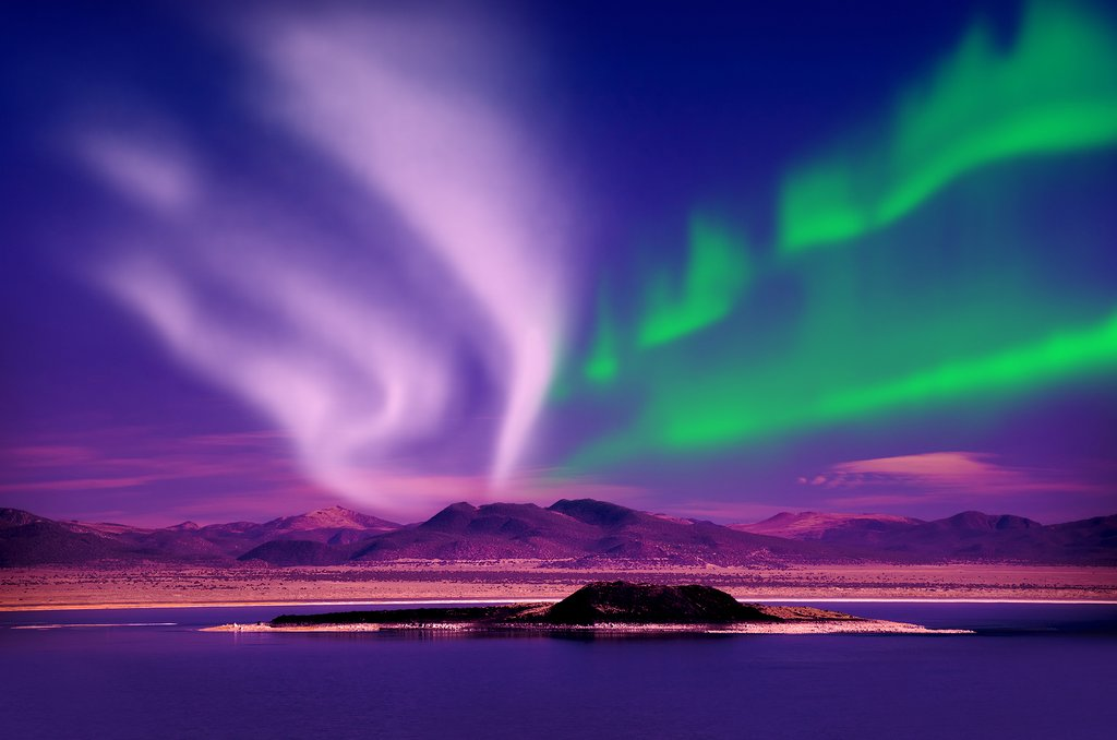 A view of Aurora Borealis near Tromsø, Norway.