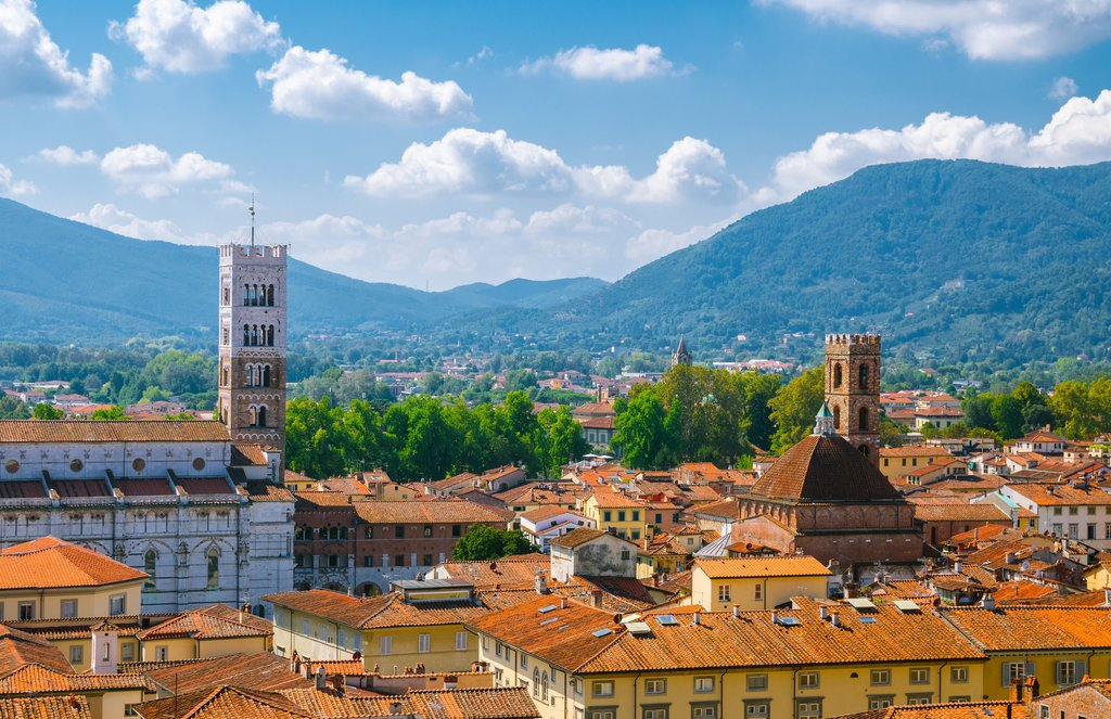 A view of Lucca's historic center