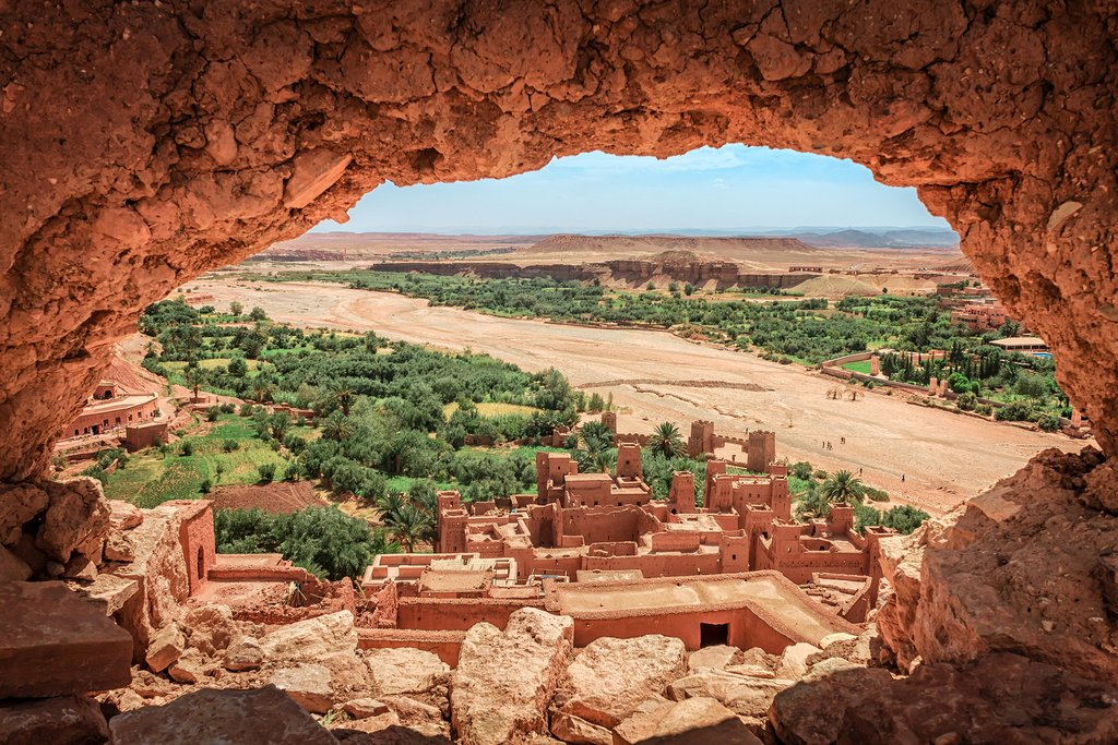 ancient berber kasbah. near Ouarzazate city in Morocco.