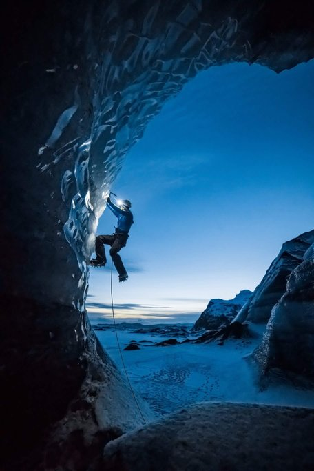 Ice climbing on glaciers
