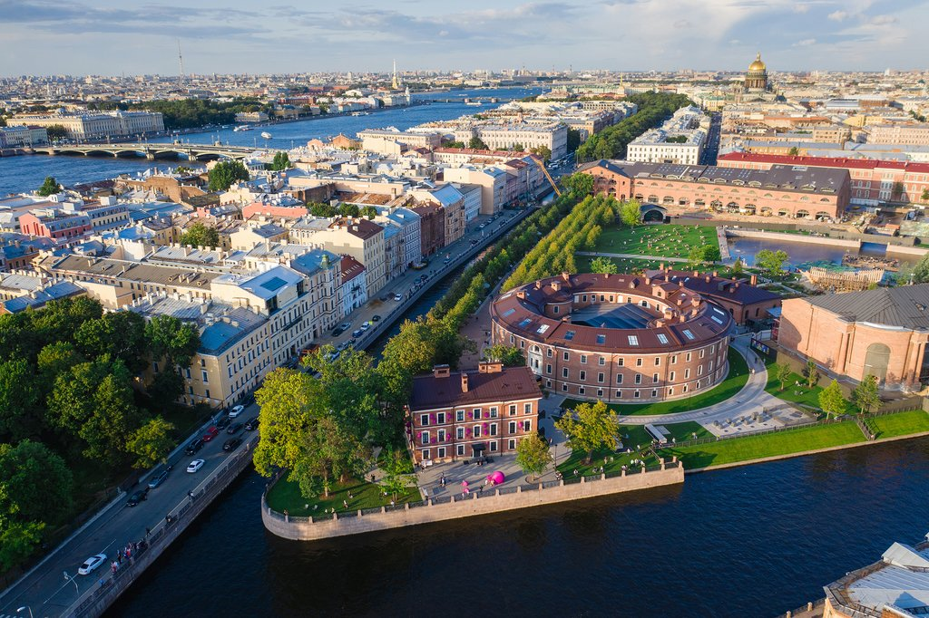 Aerial view of St. Petersburg
