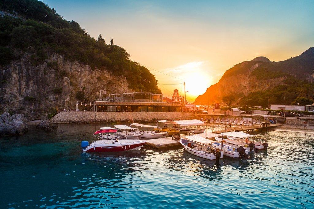 Paleokastritsa Bay on Corfu