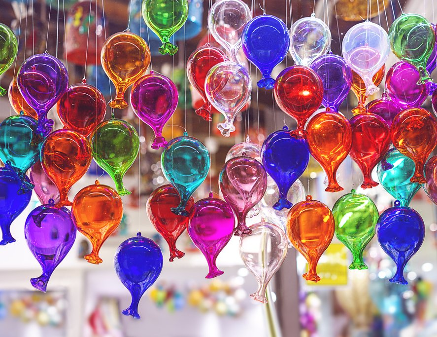 Handblown Murano glass in Venice