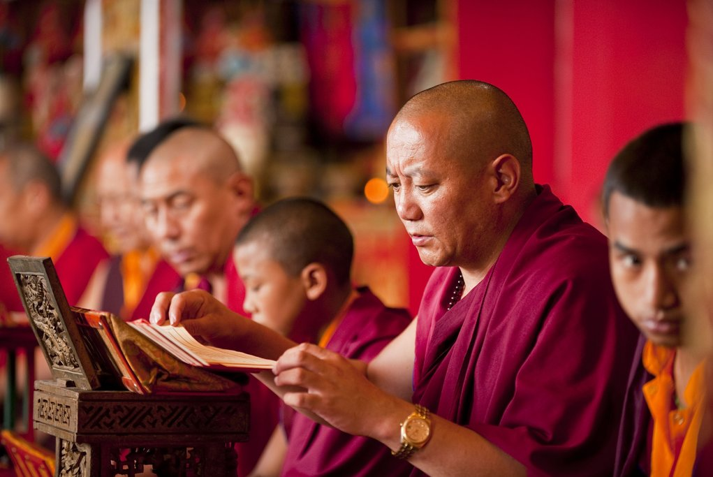 Monks during prayer time - Rene Jungsnickel