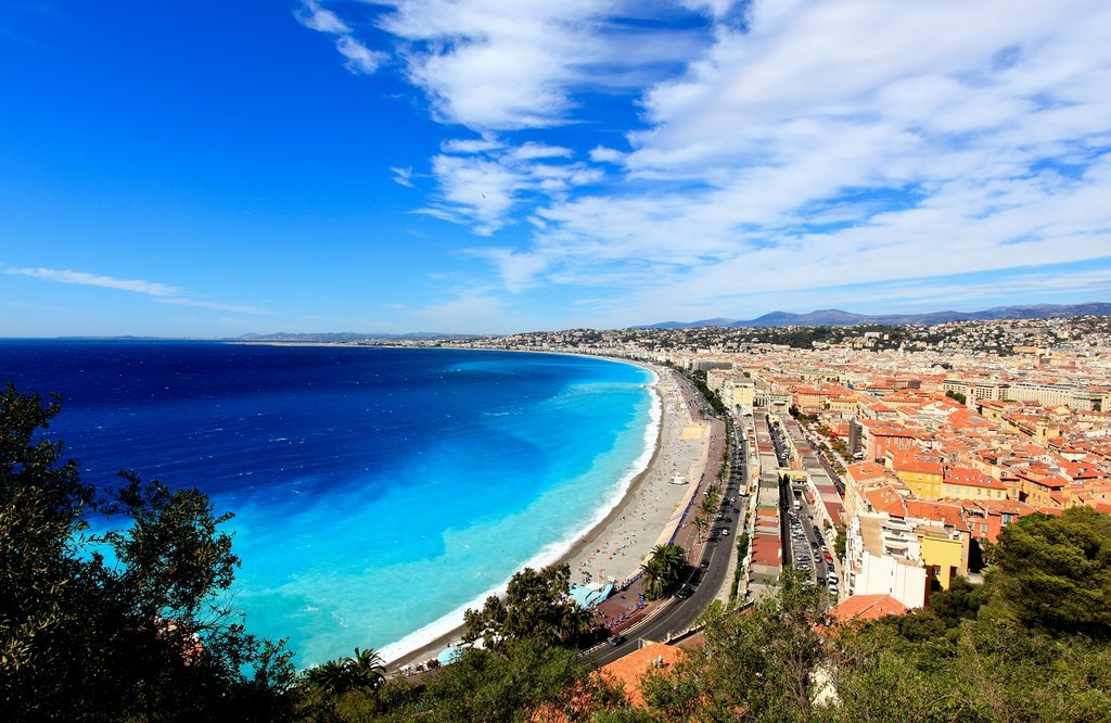 French Riviera waterfront