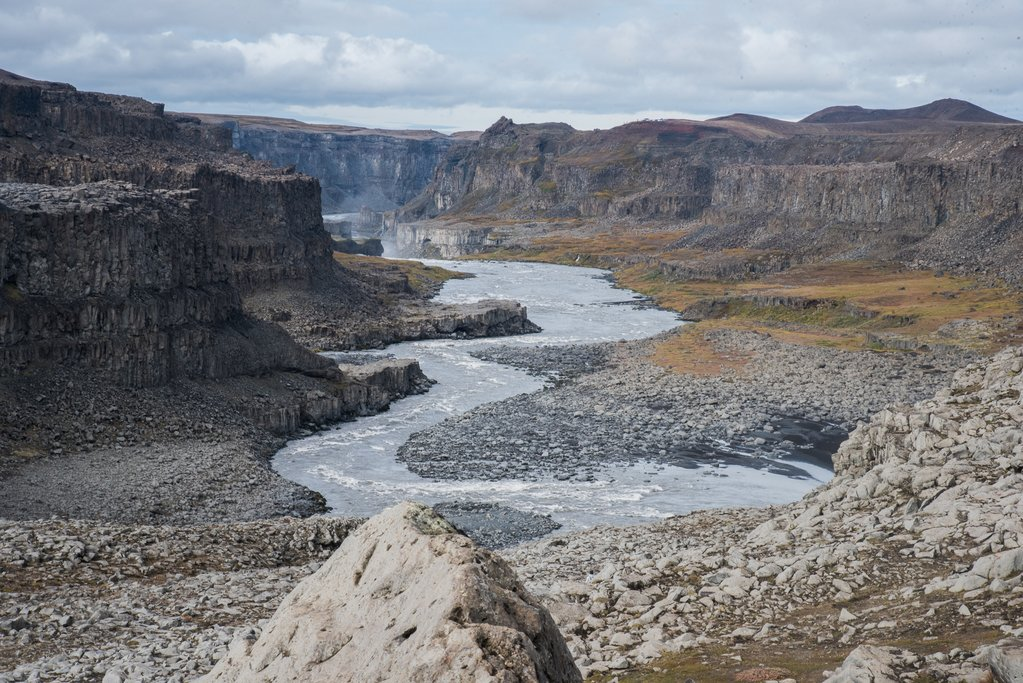 A view below Dettifoss waterfall leading to Asbyrgi Canyon (photo by Chris McCarty)