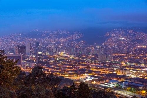 Medellín by night.