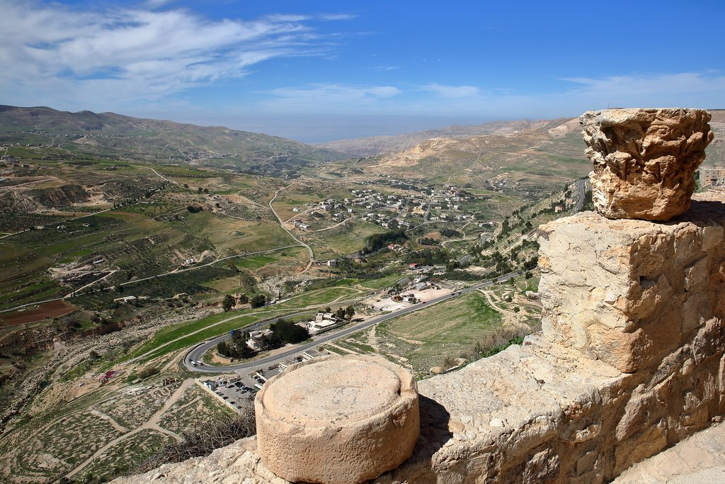 Enjoy sweeping vistas from the ramparts of the Crusader castle in Karak
