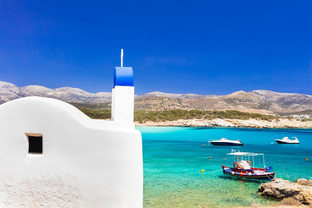 Seaside church in Naxos