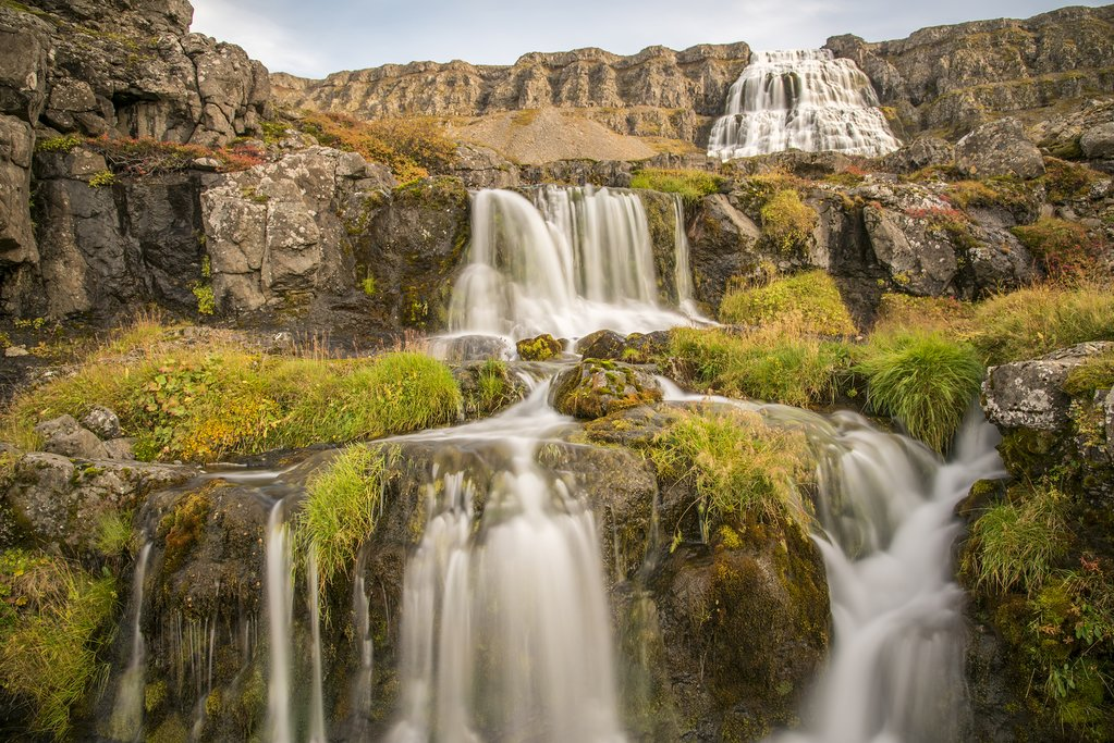A waterfall in the Westfjords
